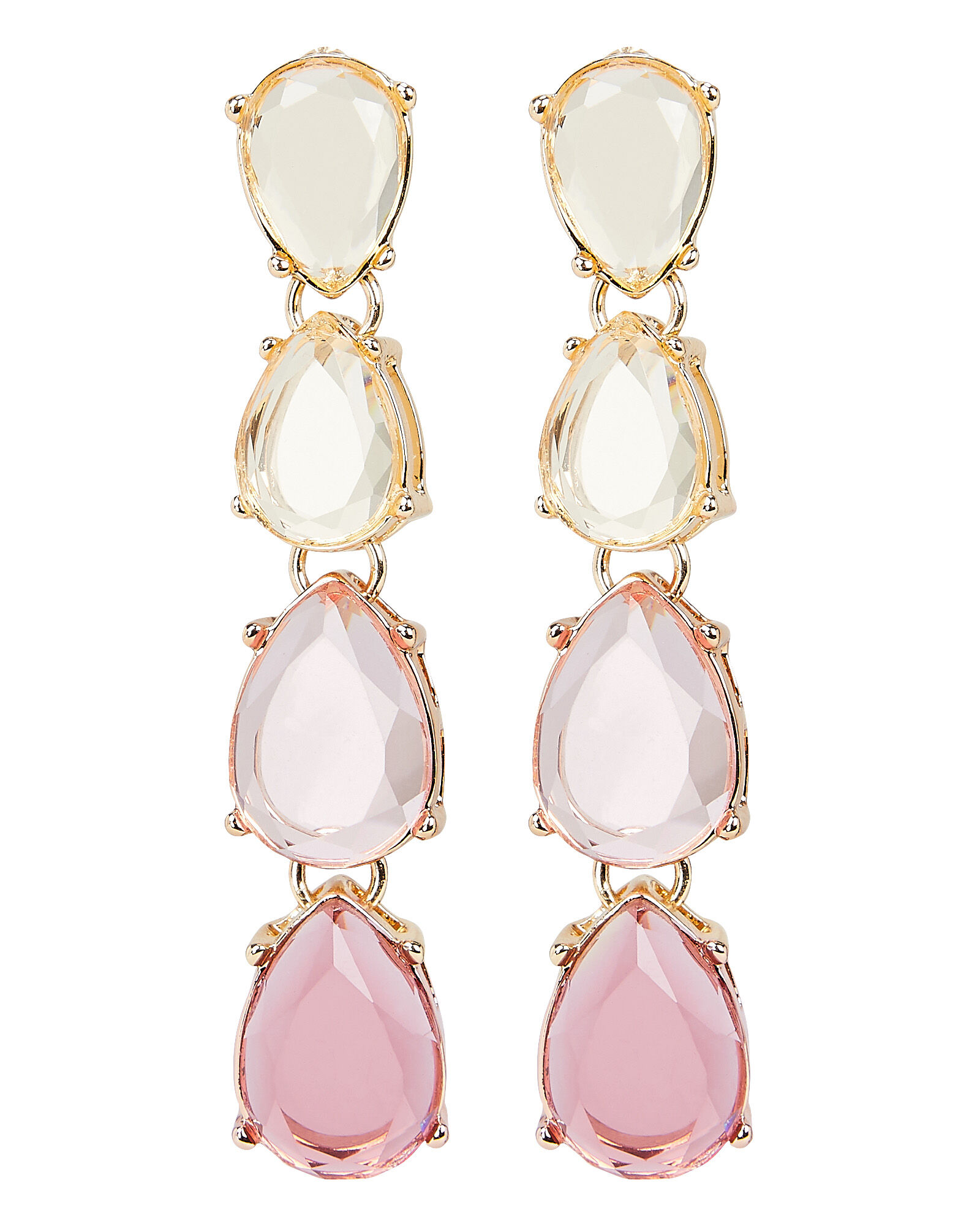 Ombré Pink Drop Earrings, PINK, hi-res