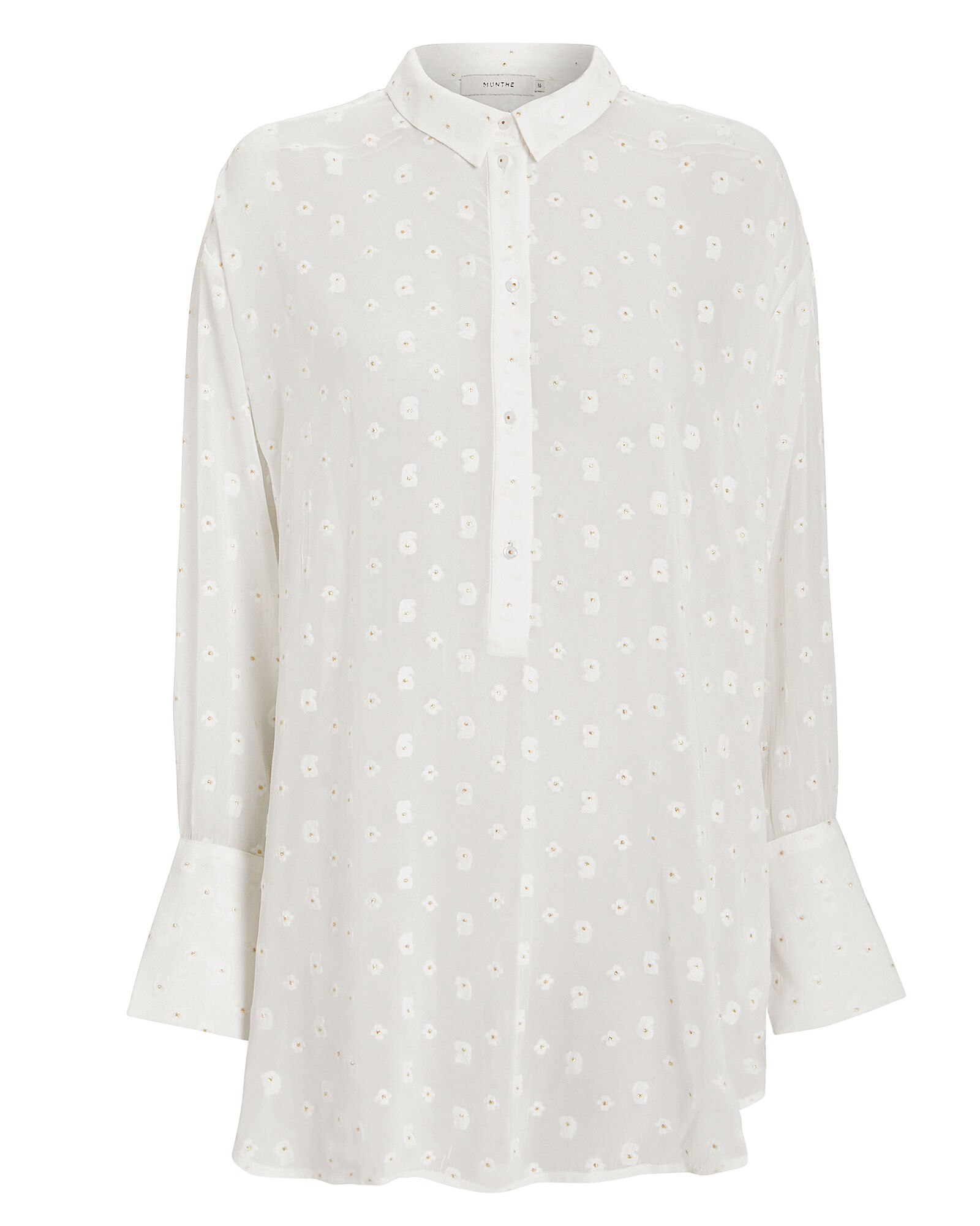 Affair Sheer Blouse, IVORY, hi-res