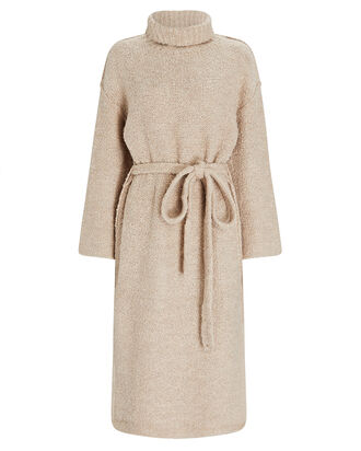Chalet Turtleneck Sweater Dress, BEIGE, hi-res