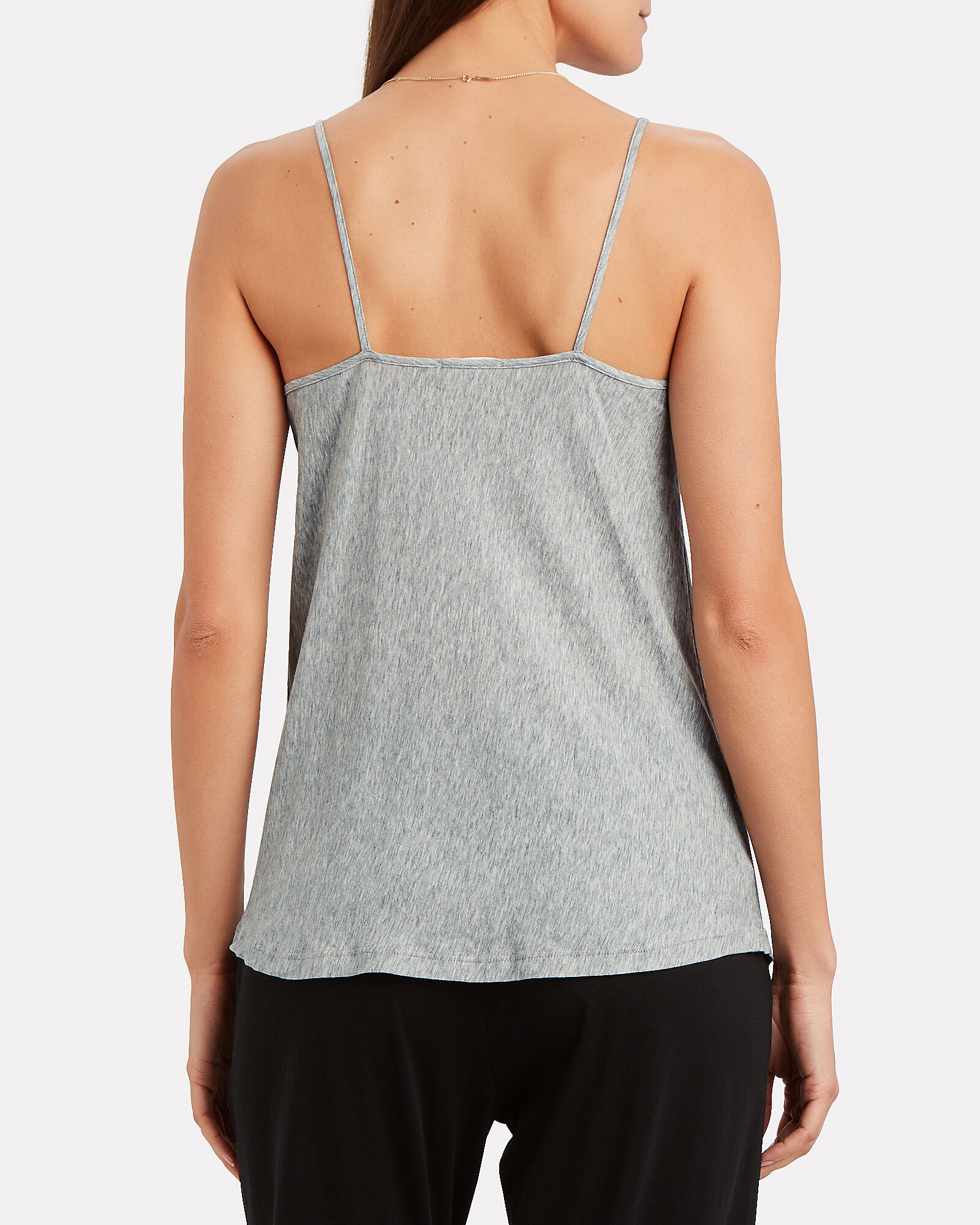 Leslie Pima Cotton Tank, GREY-LT, hi-res