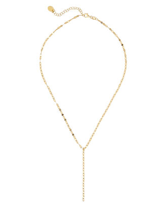 Pailette Lariat Necklace, METALLIC, hi-res