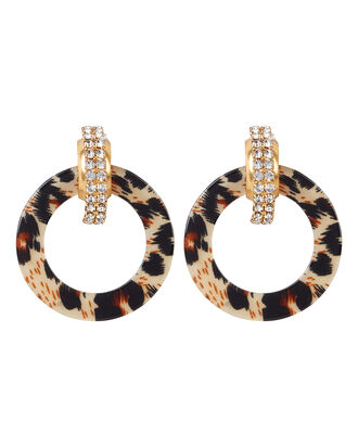 Henrietta Earrings, LEOPARD, hi-res