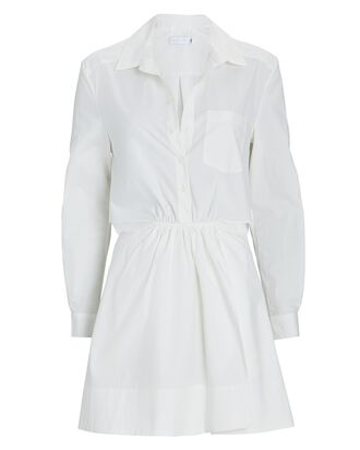 Shaelyn Cut-Out Mini Shirt Dress, WHITE, hi-res