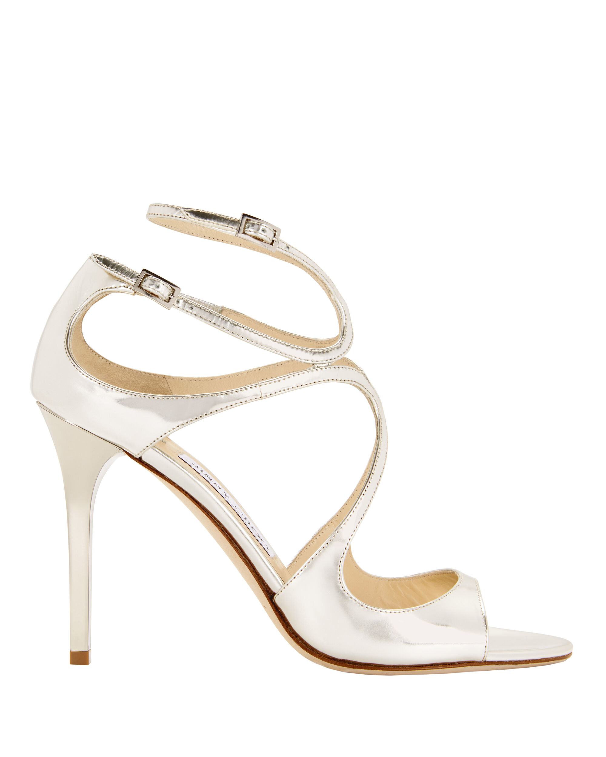 Lang Mirrored Sandals, METALLIC, hi-res