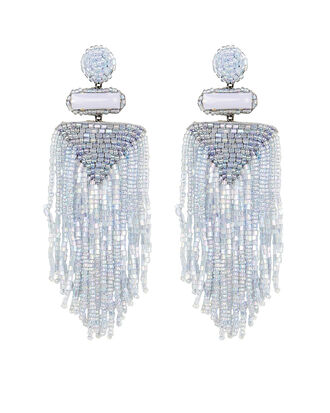 Deepa by Deepa Gurnani Jody Fringe Earrings, LIGHT BLUE, hi-res