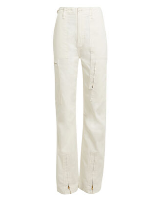Dirty Cargo Pants, IVORY, hi-res