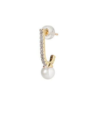 Pearl Inner Hook Earring, GOLD, hi-res