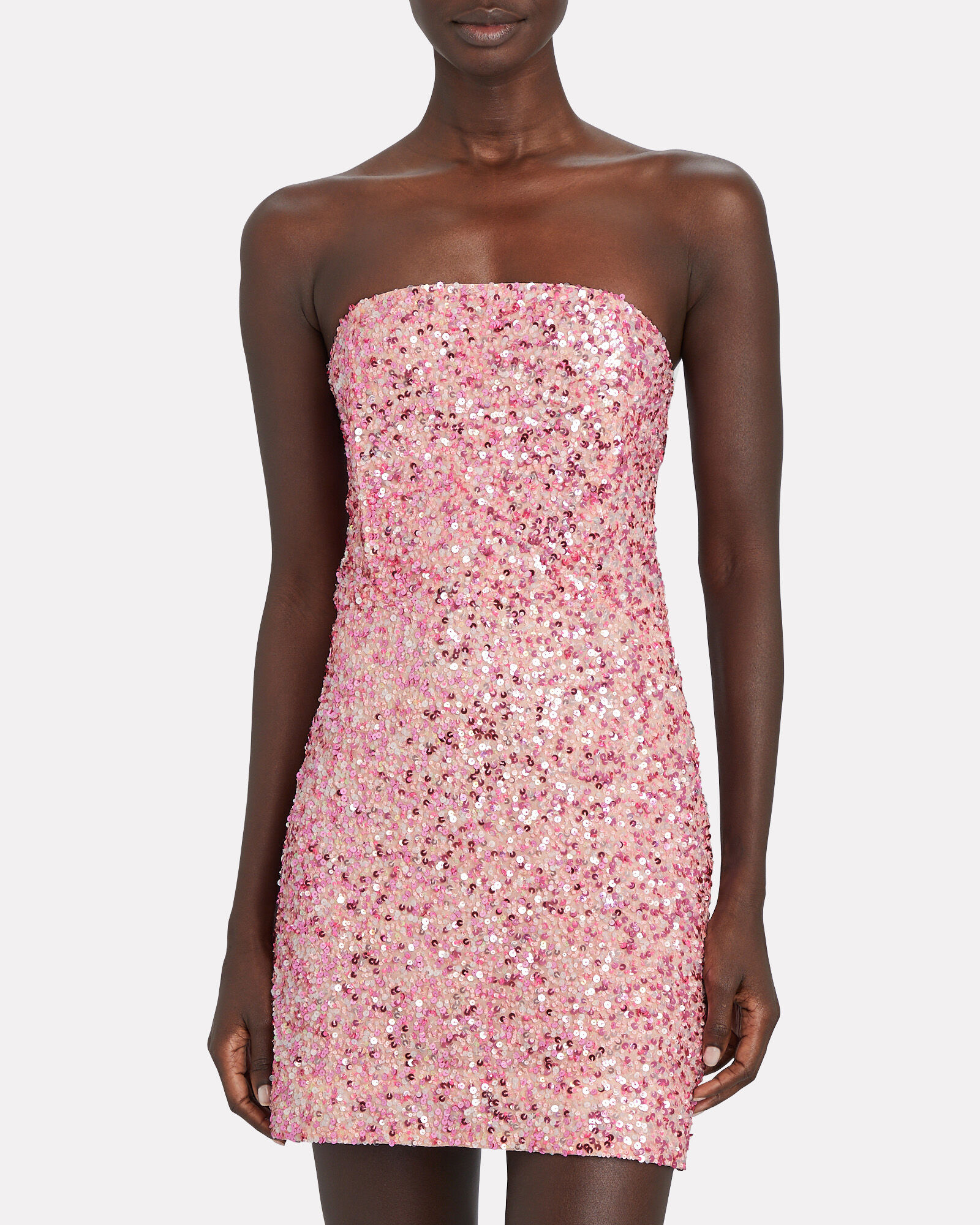 Heather Strapless Sequin Dress, PINK, hi-res