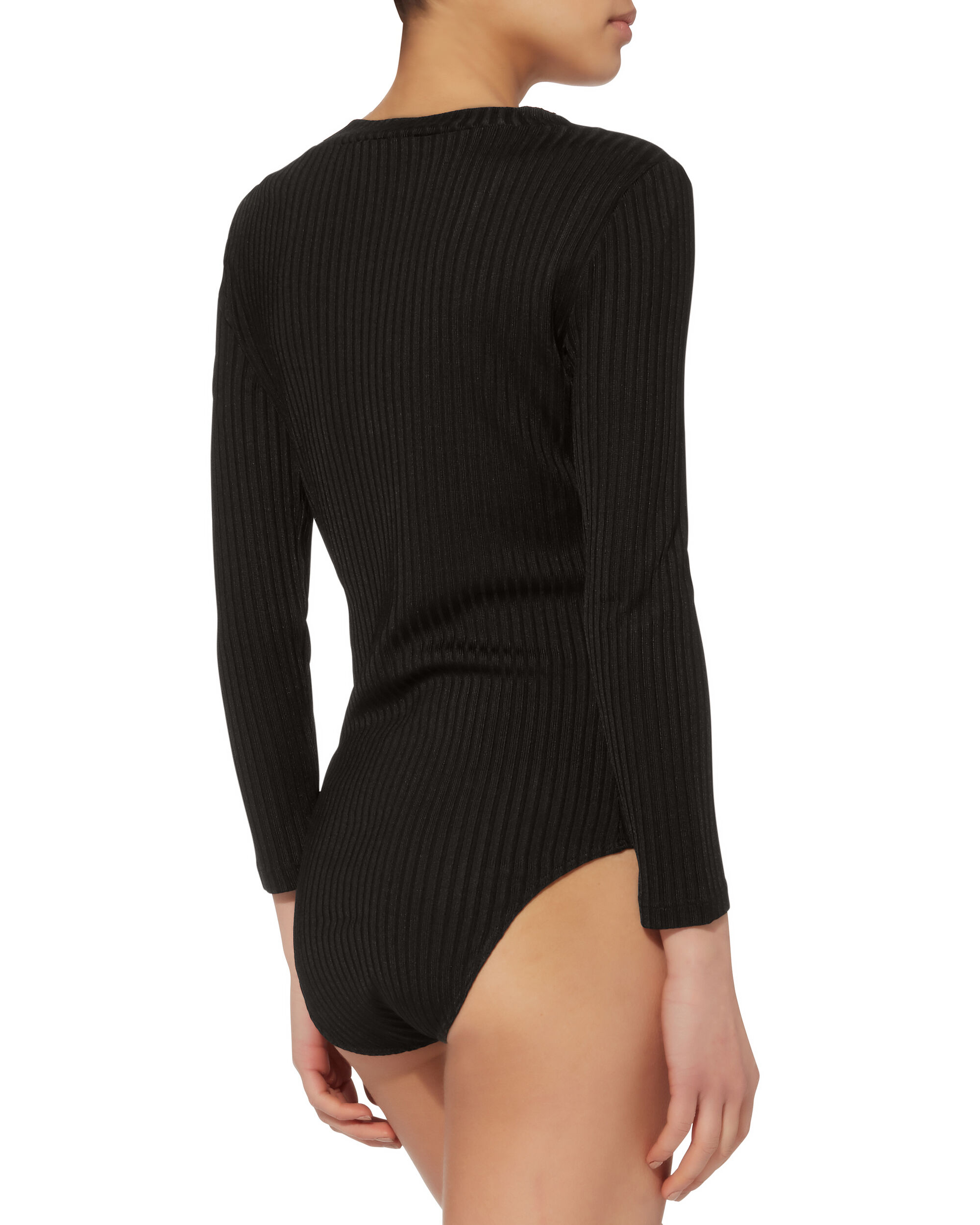 Ribbed Bodysuit, BLACK, hi-res