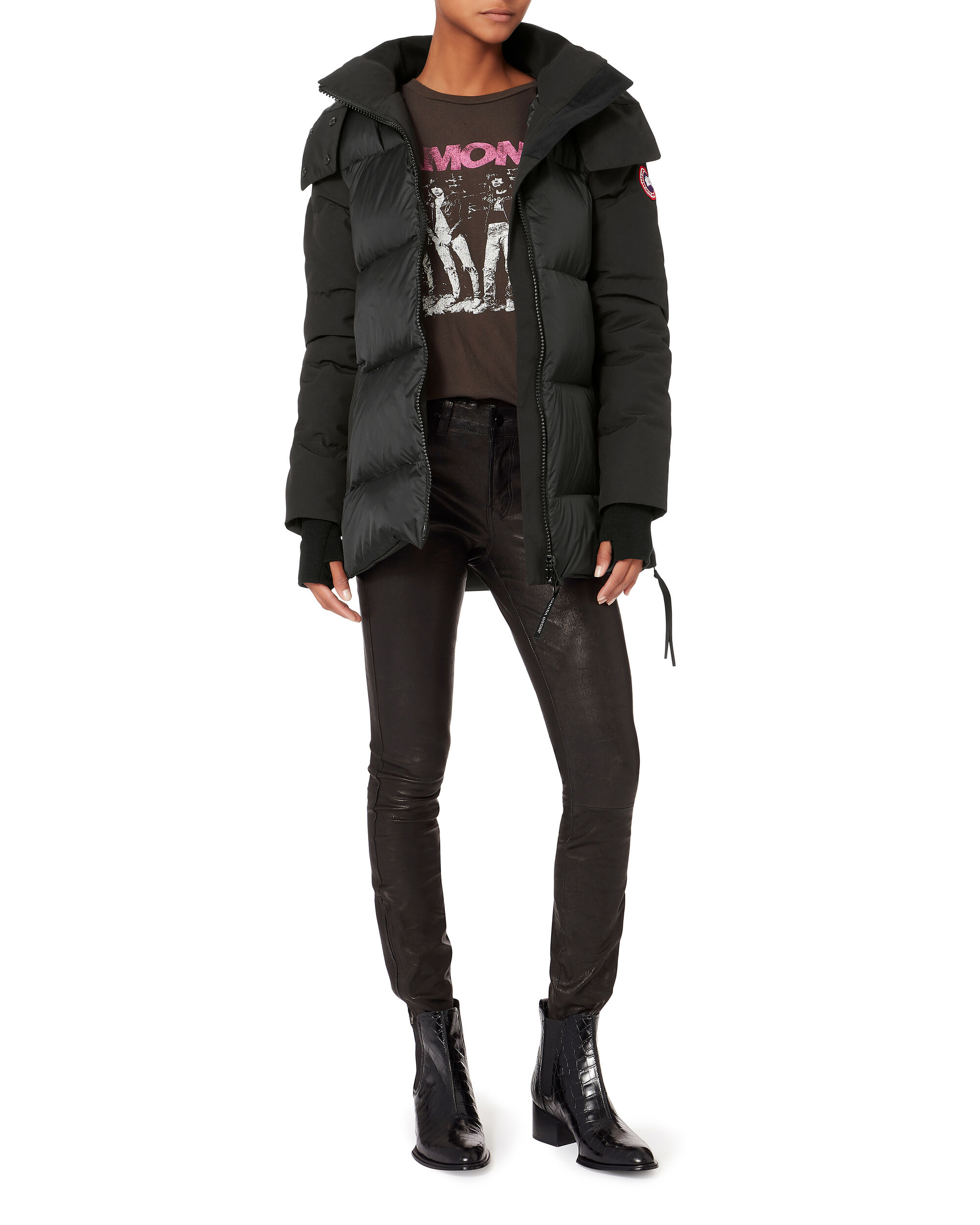 White Horse Parka, BLACK, hi-res