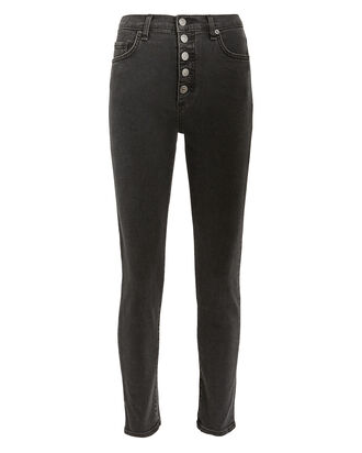 Debbie High-Rise Skinny Jeans, CHARCOAL DENIM, hi-res