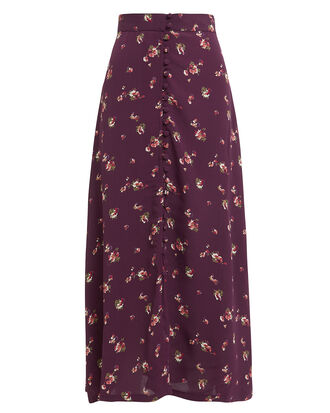 Sophia Button Front Midi Skirt, MULTI, hi-res