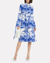 Zenith Fluid Button Dress, BLUE-MED, hi-res