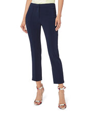 Cigarette Pintuck Pants, NAVY, hi-res