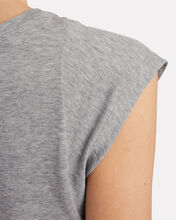 Le Mid Rise Muscle Sleeveless T-Shirt, GREY, hi-res