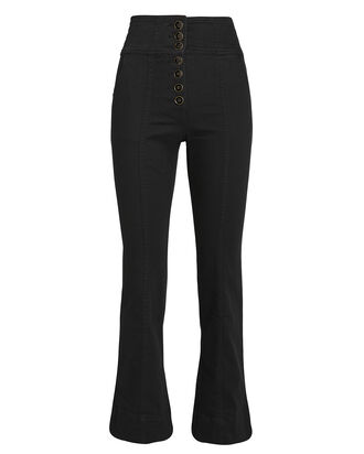 Ellis High-Rise Flared Jeans, BLACK, hi-res