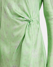 Twice As Nice Twisted Silk Dress, GREEN/FLORAL, hi-res