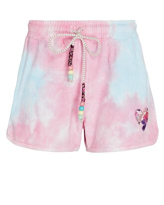 Careen Tie-Dye Shorts, PINK/BLUE, hi-res