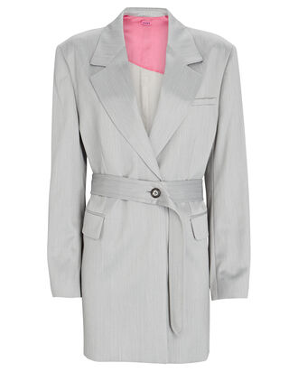 Merida Belted Blazer Jacket, LIGHT GREY, hi-res