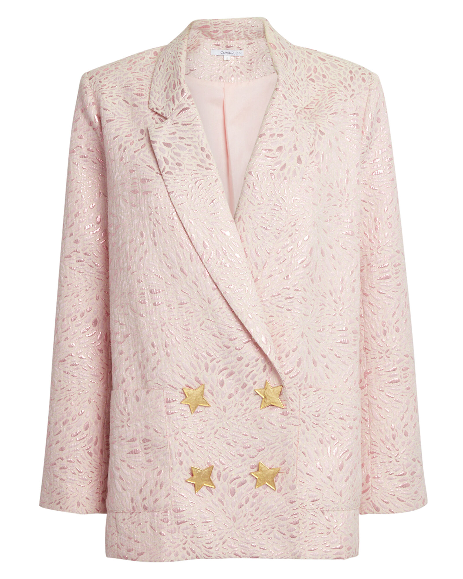 Betty Jacquard Double Breasted Blazer, PINK, hi-res