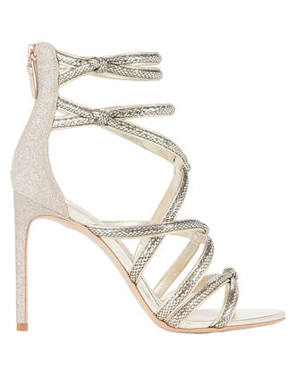 Freya Cage Stiletto Sandals, GOLD/METALLIC, hi-res