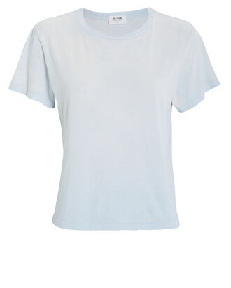The 70's Rolled Cuff Jersey Tee, POWDER BLUE, hi-res