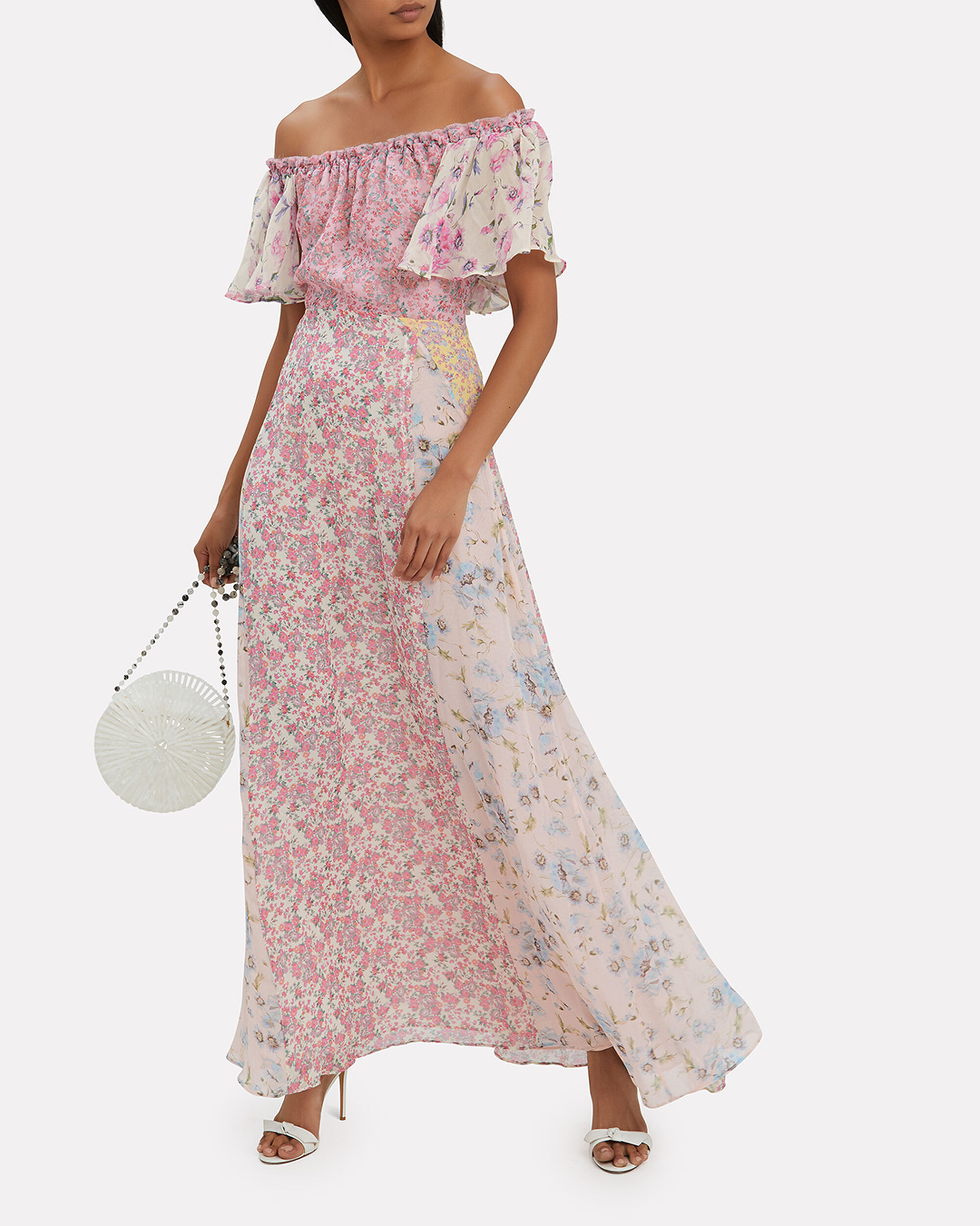 Evelyn Mixed Floral Dress, MULTI, hi-res