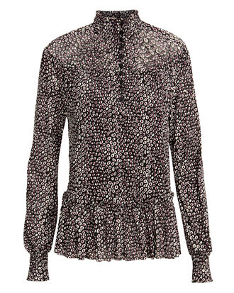 Cecily Animal Print Blouse, DARK ANIMAL PRINT, hi-res