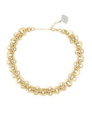 Elha Woven Chain Necklace, GOLD, hi-res