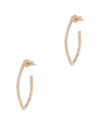 Diamond V Earrings, GOLD, hi-res