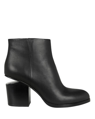 Gabi Cutout Heel Booties, BLACK, hi-res