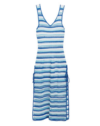 Artemisia Crochet Maxi Dress, BLUE/WHITE, hi-res