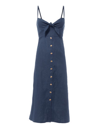 Charlotte Midi Dress, BLUE-DRK, hi-res