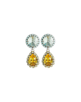 Monaco Crystal Drop Earrings, BLUE/YELLOW, hi-res