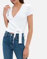 Hirah Wrap Top, WHITE, hi-res