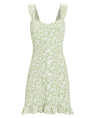 Lou Lou Mini Dress, GREEN/FLORAL, hi-res