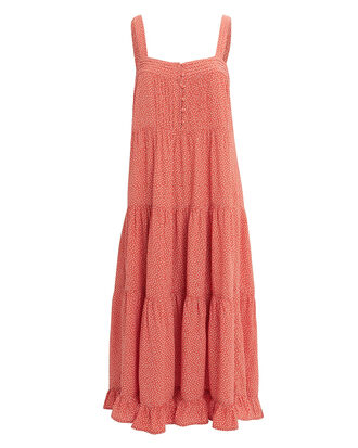 Florence Market Midi Dress, RUST/WHITE, hi-res
