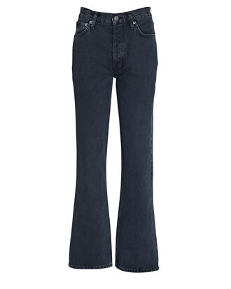 Relaxed High-Rise Bootcut Jeans, PERCOLATE, hi-res