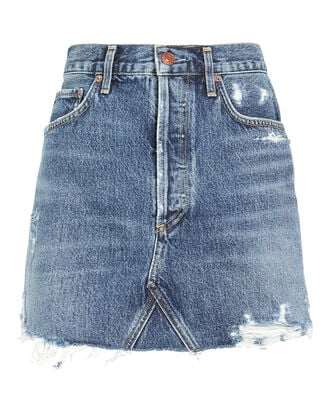 Quinn High-Rise Denim Skirt, DENIM-LT, hi-res