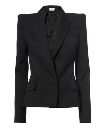 Strong Shoulder Blazer, BLACK, hi-res