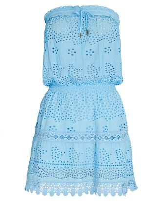 Iris Strapless Eyelet Mini Dress, MULTI, hi-res