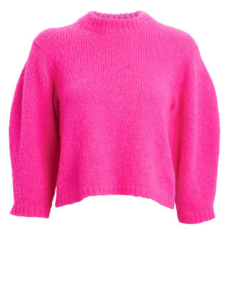 Cozette Cropped Alpaca & Wool Sweater, MAGENTA, hi-res