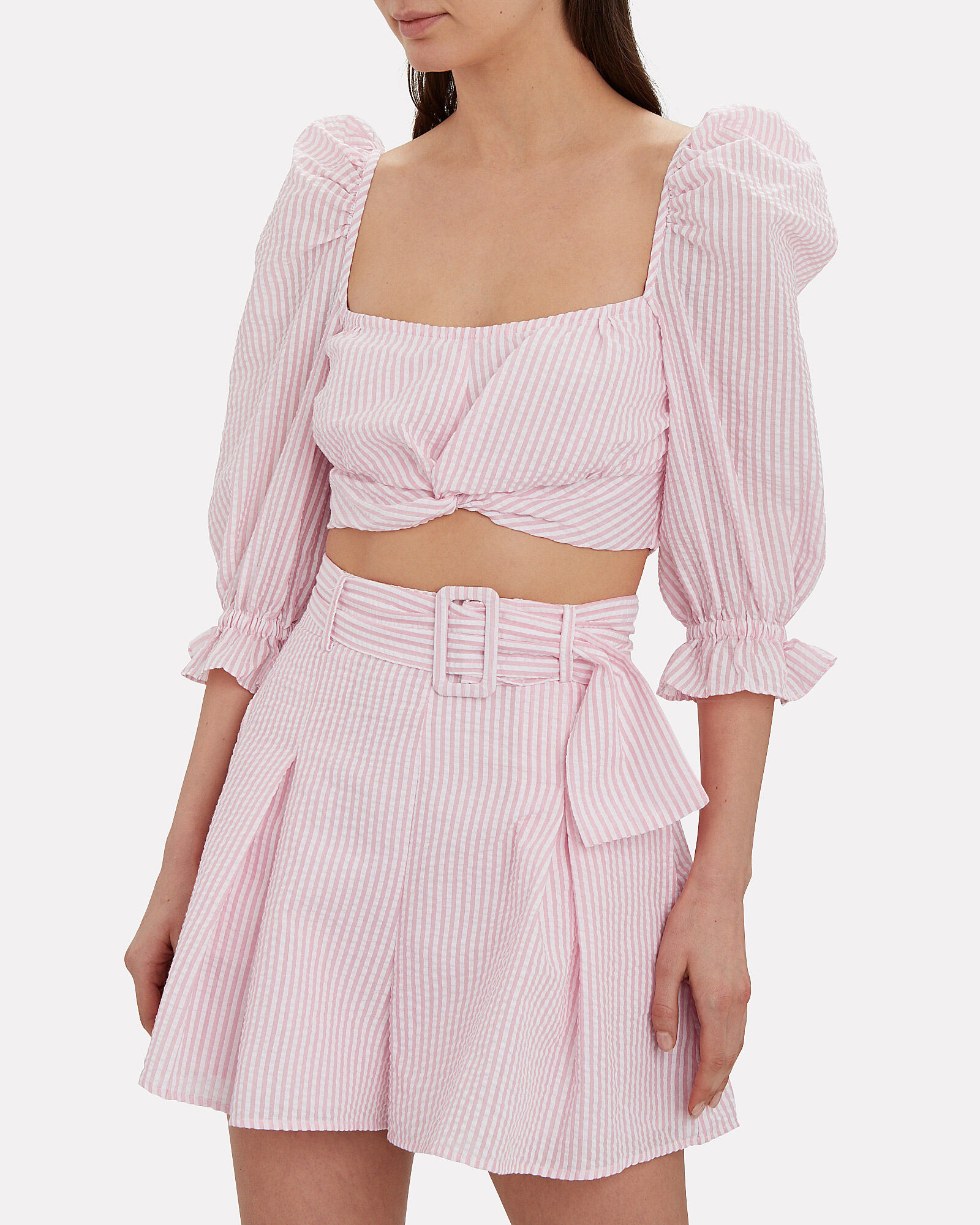Say You Want Me Crop Top, PINK/WHITE, hi-res