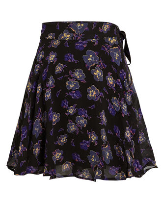 Floral-Printed Georgette Skirt, MULTI, hi-res
