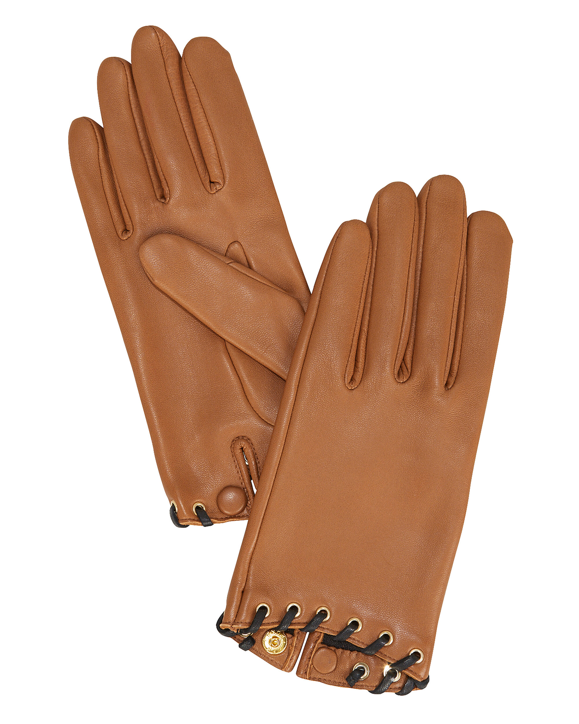 Gamme Nappa Leather Gloves, BROWN, hi-res