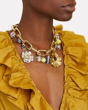 Mai Chain-Link Charm Necklace, GOLD, hi-res