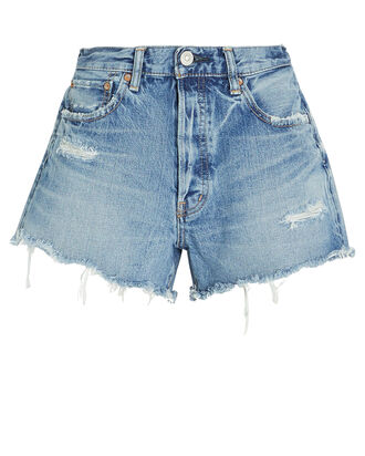Chester Distressed Denim Shorts, MEDIUM WASH DENIM, hi-res