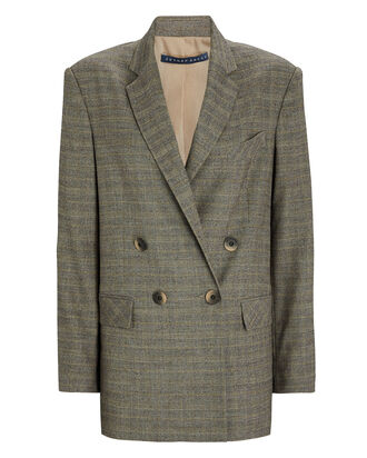 Boyfriend Double-Breasted Blazer, GREY, hi-res