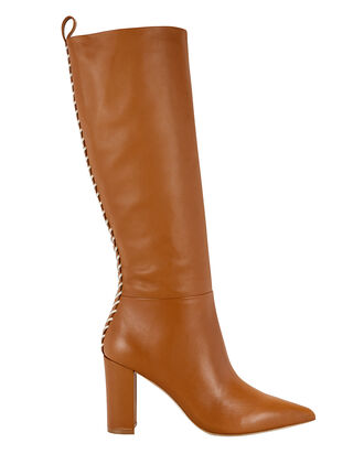 Marion Calf-High Boots, BROWN, hi-res
