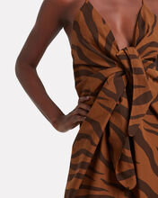 Lolita Tiger-Printed Poplin Dress, BROWN, hi-res